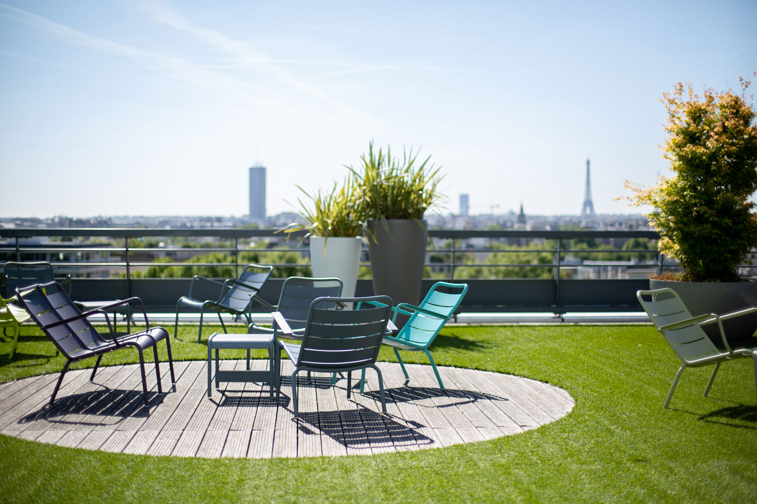 Photo d'un jardin sur terrasse en plein air